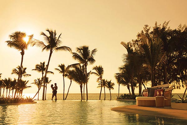 Couple by Infinity Pool